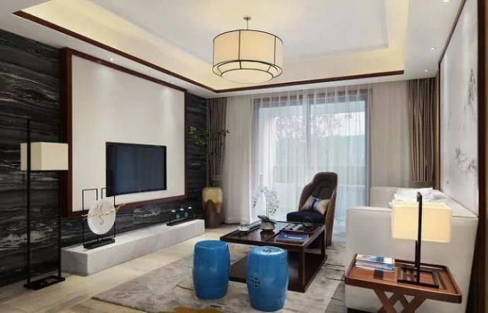 中式风格-115平米三居室-装修样板间