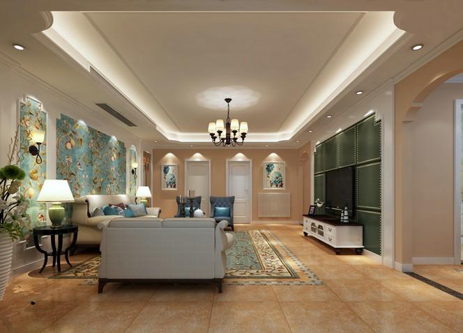 欧美风情-152平米四居室整装-装修样板间