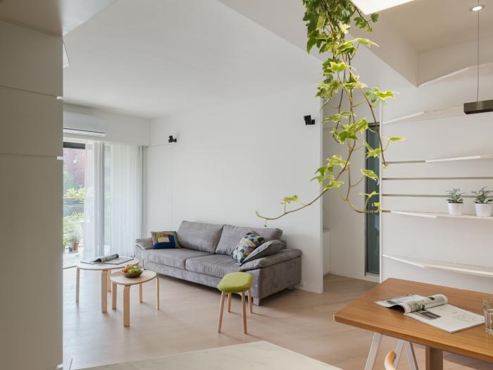 日韩风格-115平米三居室-装修样板间
