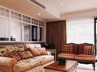 田园风格-123平米三居室装修样板间