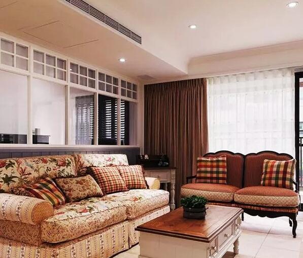 田园风格-123平米三居室-装修样板间