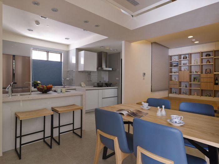 日韩风格-97平米三居室-装修样板间