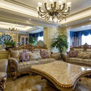 欧美风情别墅客厅装修效果图