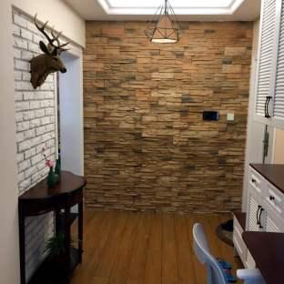 混搭风格二居室玄关装修效果图