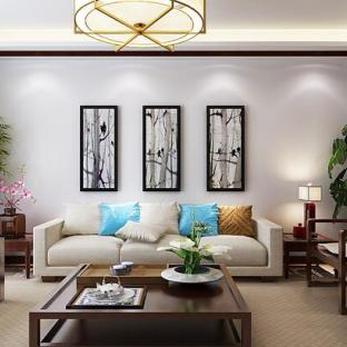 中式风格四居室客厅装修效果图