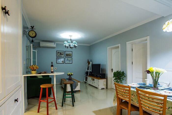 田园风格-89平米三居室-装修样板间