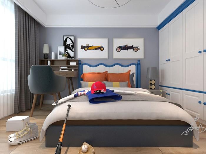 新中式风格-140平米三居室-装修样板间