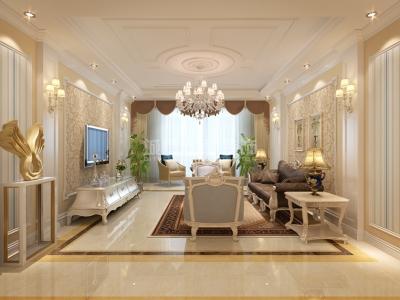 欧式风格-138平米三居室装修样板间