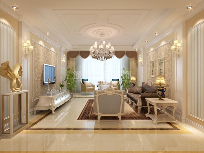 欧式风格-138平米三居室-装修样板间
