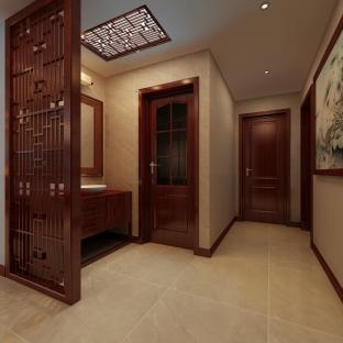 中式风格四居室玄关装修效果图