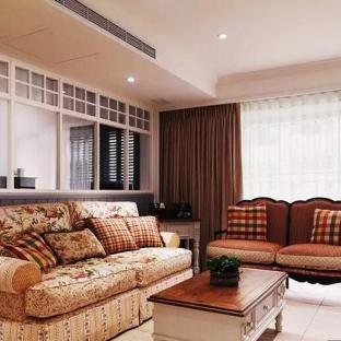 田园风格二居室客厅装修效果图