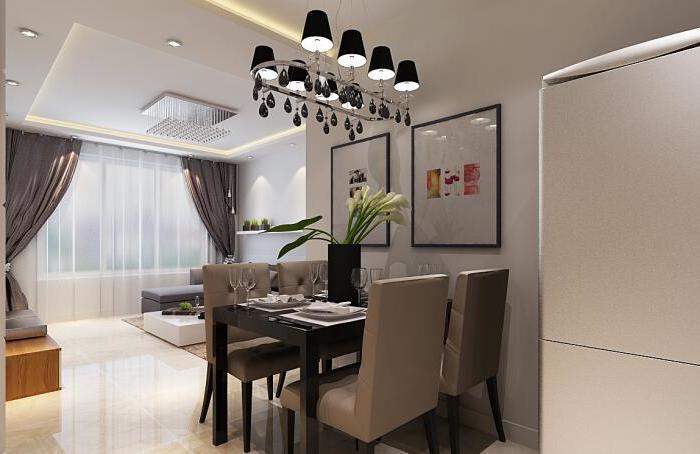 现代简约-90平米二居室-装修样板间