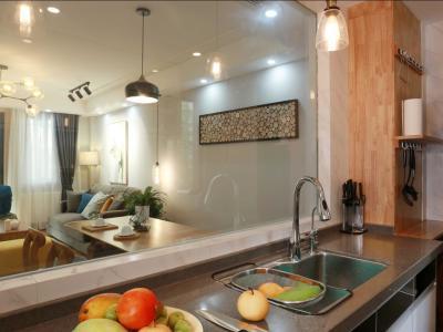 北欧风格-116.57平米三居室装修样板间