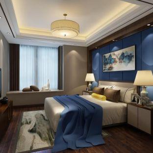 中式古典四居室卧室装修效果图