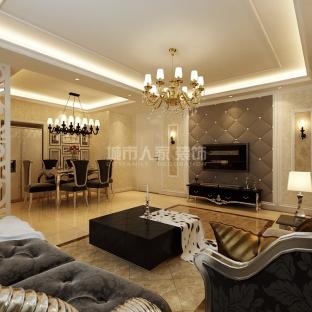 新古典风格四居室客厅装修效果图