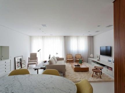 巴西白色简约公寓