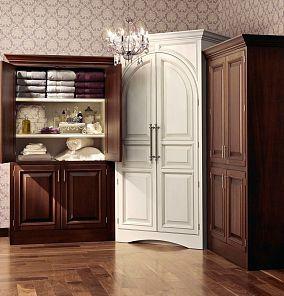 欧式白色衣柜
