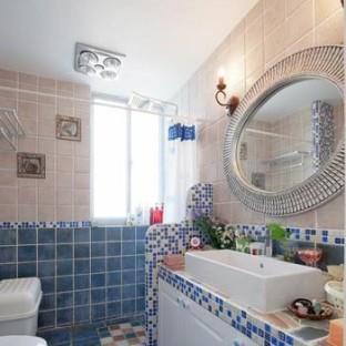 地中海风格一居室卫生间装修效果图