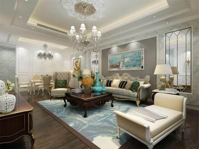 欧美风情-143平米四居室装修设计