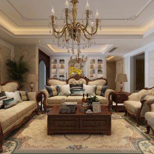 简欧风格五居室客厅装修效果图