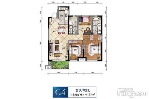 中航城-三居室-新中式