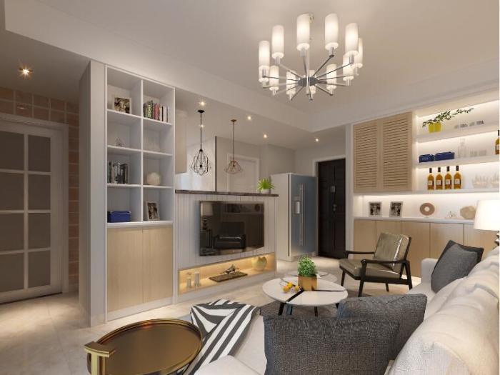 现代简约-53平米一居室整装-装修样板间