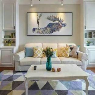 简美风格三居室装修效果图