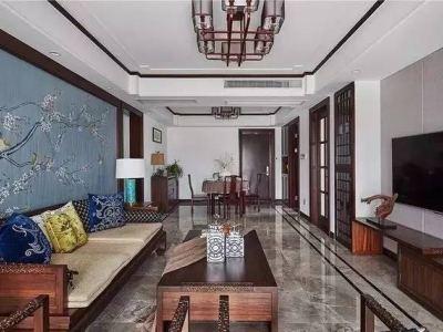 中式风格-120平米三居室整装装修样板间