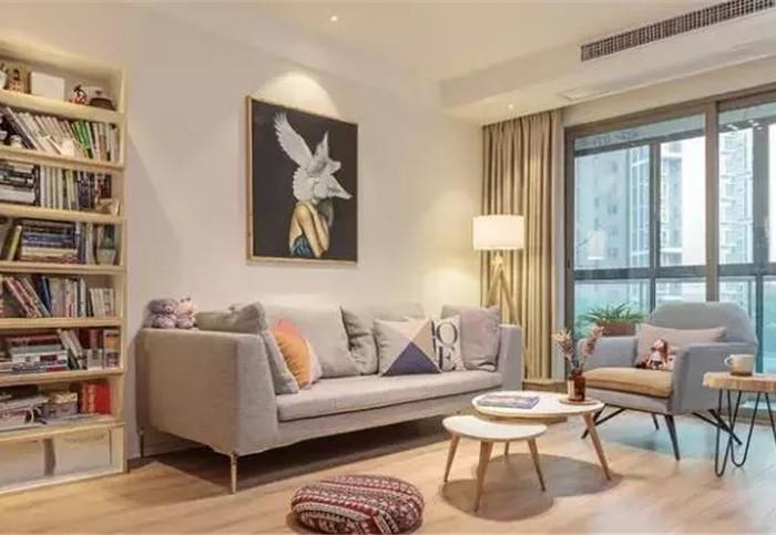 现代简约-95平米三居室-装修设计