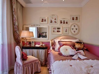 法式风格-118平米三居室装修样板间