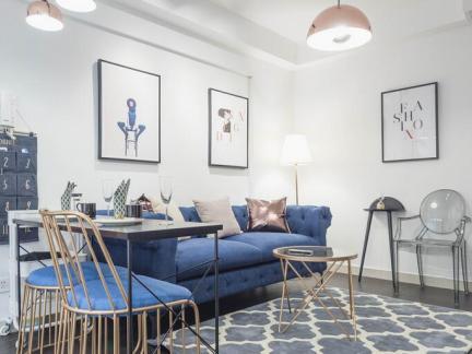 美式混搭-70平米二居室装修样板间