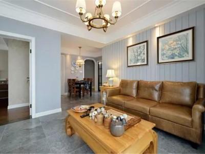 美式新房-90平米二居室装修设计