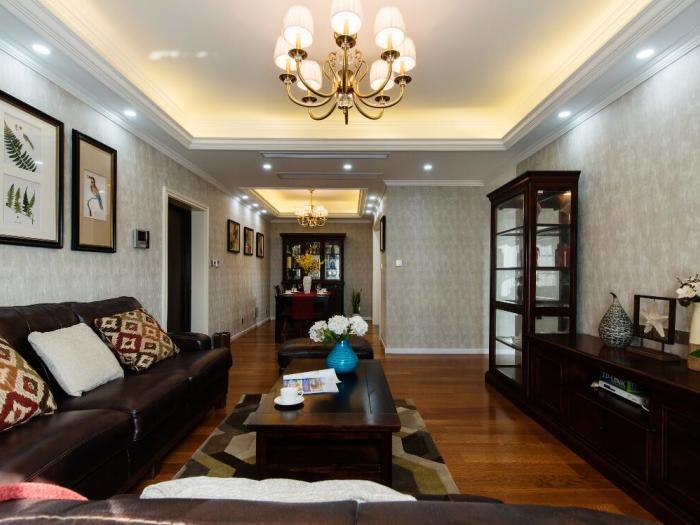 美式风格-113平米三居室-装修样板间