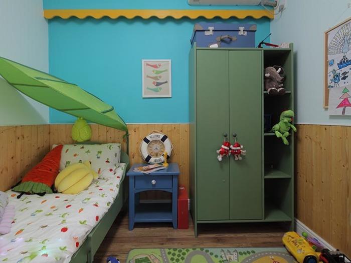 地中海风格-110.96平米三居室-装修样板间