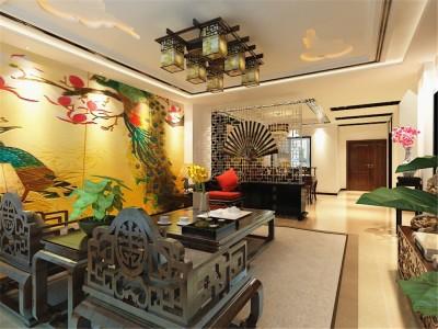 中式风格-223平米四居室装修样板间