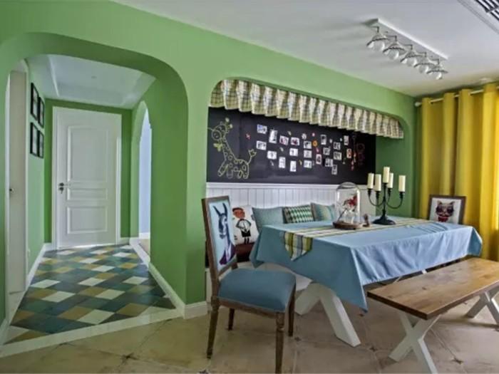 混搭风格-118平米三居室-装修样板间