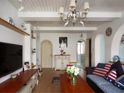 地中海风格-83平米二居室装修样板间