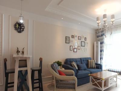 地中海风格-93.76平米二居室装修样板间