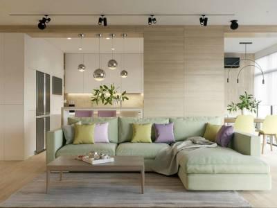 现代简约-102.2平米三居室整装装修设计