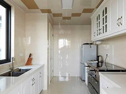 白色现代风格厨房吊顶装修设计图