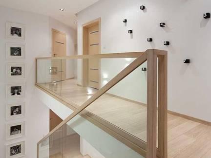 舒适白色现代风格阁楼隔断装修设计图