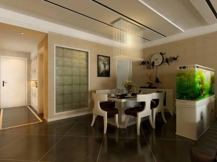 棕色现代风格餐厅吊顶装修美图