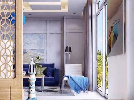 白色现代风格华美客厅隔断装修美图