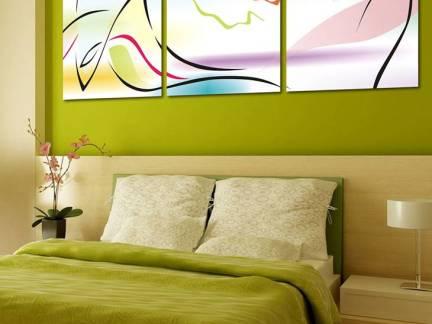 米色现代风格卧室时尚榻榻米装修设计图
