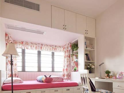 粉色简欧风格儿童房榻榻米装修效果图