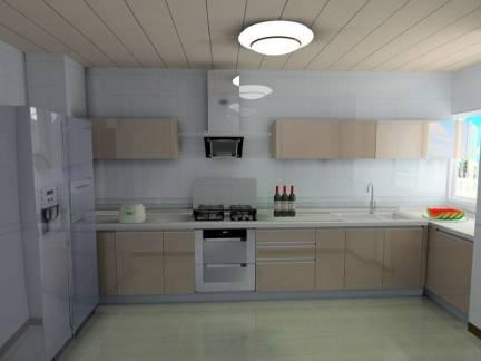 灰色现代风格厨房吊顶装修设计图