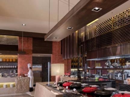 棕色中式风格厨房吊顶装修设计图