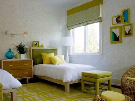 棕色现代风格儿童房时尚床头柜装修设计图