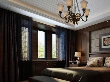 古朴典雅欧式风格卧室白色吊顶
