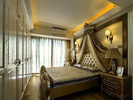 棕色欧式风格舒适卧室吊顶装修效果图